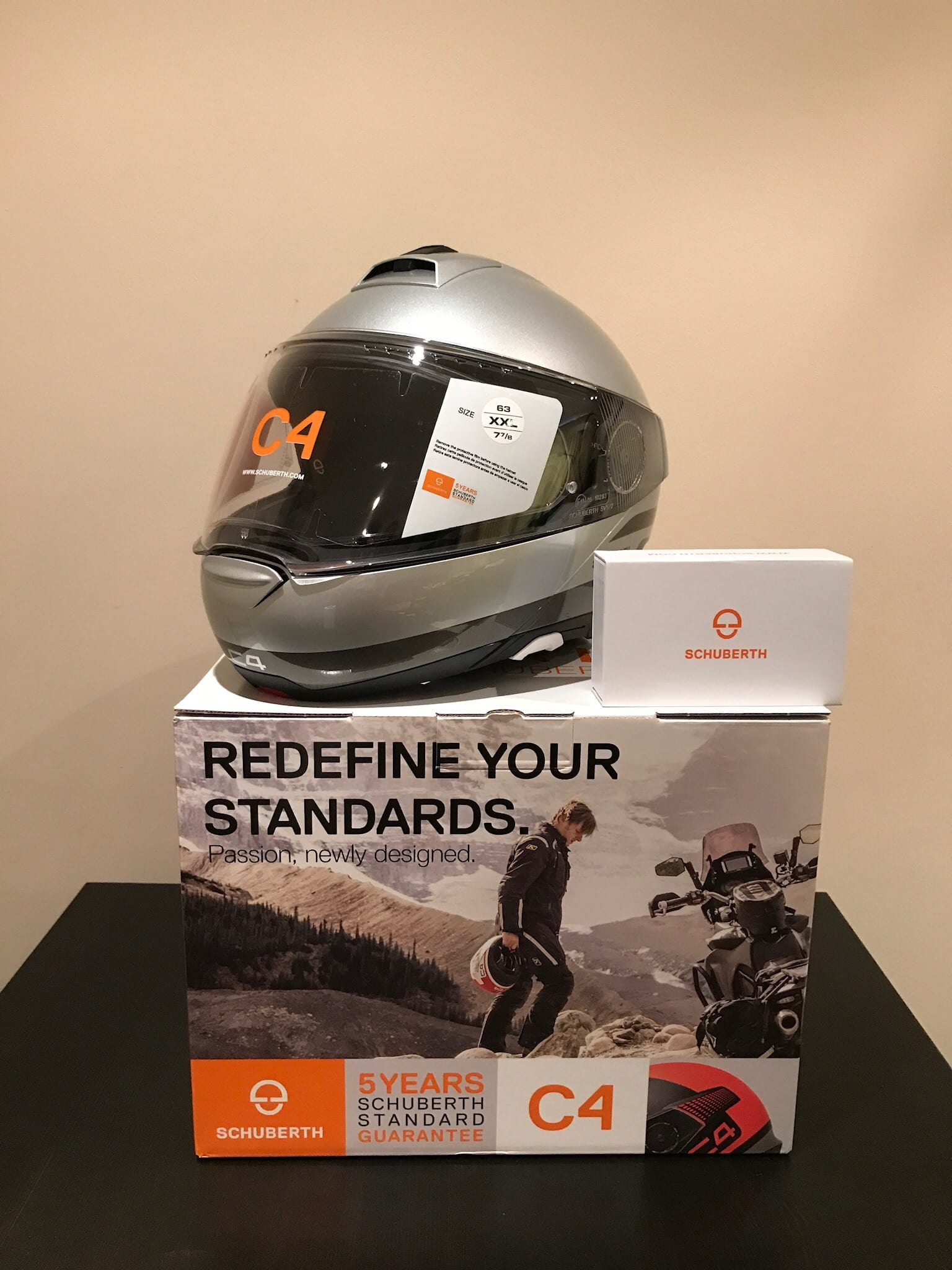 Schuberth C4 Helmet & SC1 Advance Communication System made by Sena